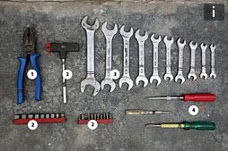 Список инструментов и о креплении багажа